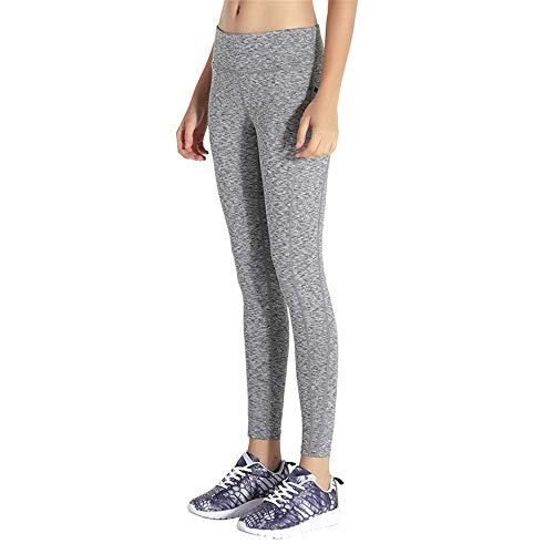 Z&Y Glaa Yoga Leggings mit Tasche Klassische Bauchkontrolle Mittlere Taille Laufhose Workout Sporthose für Damen Yogahosen Sporthose Tights Laufhose High Waist mit Taschen Dehnbar Jogginghos