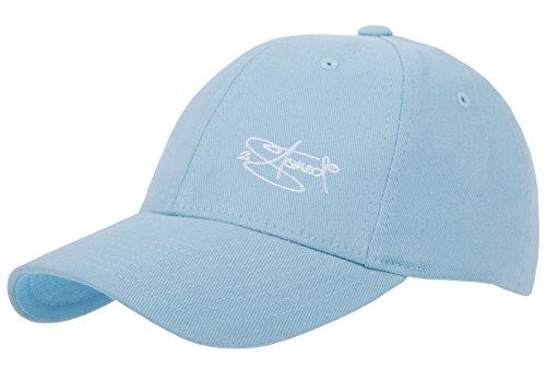 2-stoned Wear 2Stoned Flexfit Baseball Cap Classic Carolina Blue mit Stick Größe S/M (56 cm - 58 cm) für Damen, Herren und Jugendliche