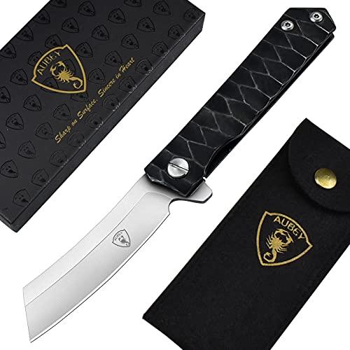 AUBEY Messer Klappmesser Outdoor Survival Angelmesser Extra Sharp Campingmesser Taschenmesser