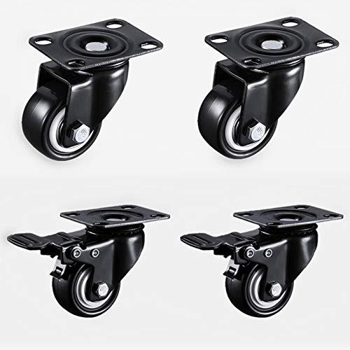 Ruedas 4pcs 1.5 pulgadas 41mm de servicio pesado 180kg Negro Ruedas giratorias Ruedas de ruedas de trolley Caster Caster Caster Reemplazo de ruedas giratorias de estilo (Color : 1.5 inch A and C)