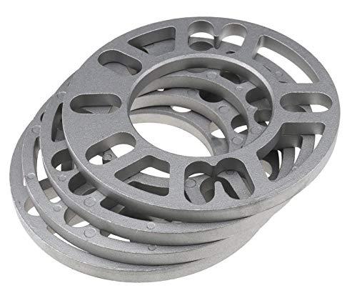 BERYLX Separadores de Rueda Cuñas Placa Aleación Aluminio 4 y 5 Perno para Autocar Universal 4Pcs, 10mm