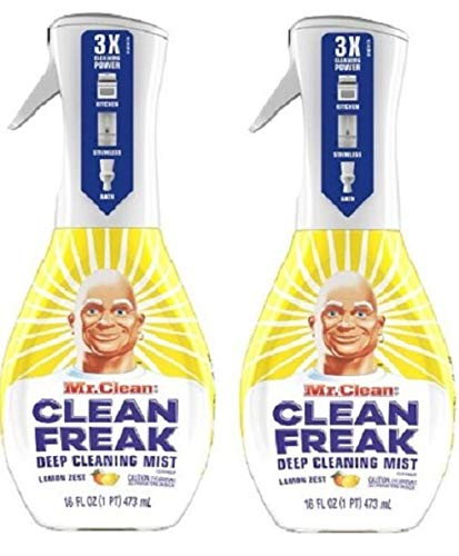 Clean Freak Deep Cleaning Mist Multi-Surface Spray Lemon Zest Scent Starter Kit (2 Count)