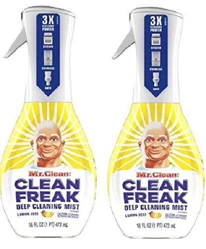 Clean Freak Deep Cleaning Mist Multi-Surface Spray Lemon Zest Scent Starter Kit (2 Count)