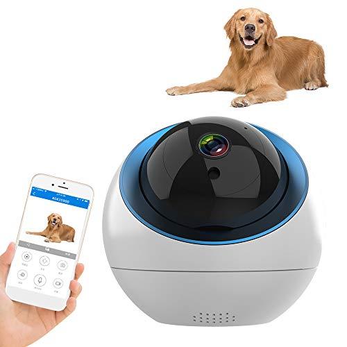 Decdeal Huisdier-camera, 1080P wifi, bewakingscamera met cloud-geheugen, bewegingsdetectie, tweewegs-audio, alarm, nachtzicht, mobiele app-controle als baby/huisdiermonitor