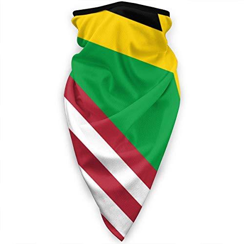Miedhki USA Jamaika Flagge Gesichtsmaske Nackenschutz Bandana Schal Sturmhaube Multifunktionale Kopfbedeckung