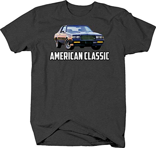 American Classic Buick Grand National Tshirt for Men XLarge Gray
