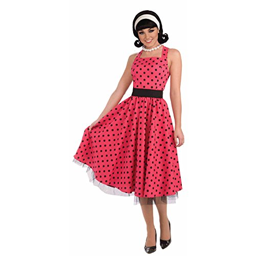 Forum Novelties AC530 Vrij in Polka Dots Jurk (UK 10-14)