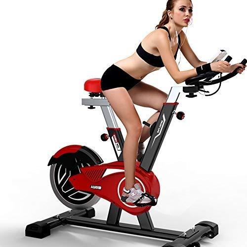 XJWWW-URG La Bici de Ciclo Indoor - estacionarios Bicicletas estáticas, Ajustable Resistencia y Monitor LCD for el hogar o la Oficina Ejercicio URG
