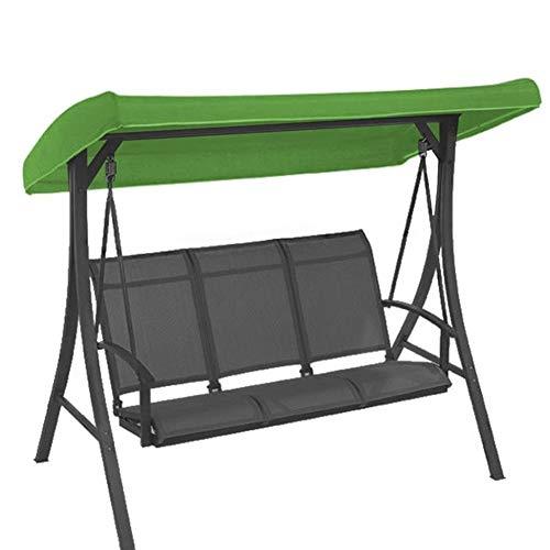 YING-pinghu Outdoor-Camping-WaterproofUV Schutz Outdoor 191x120x23 cm Baldachin wasserdicht Schaukel Stuhl Zelt Sonnenschirm Camping Schaukeldach Ersatzstoff (Color : Green)