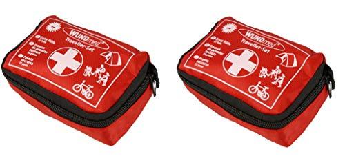 Wundmed Erste Hilfe Set 32-teilig in praktische Etui mit Gürtelschlaufe (2 x Set)
