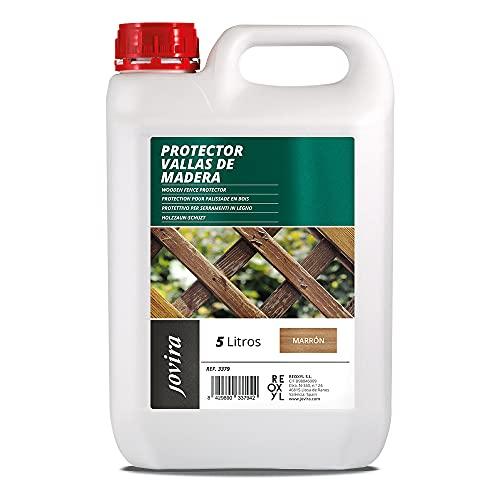 PROTECTOR PARA VALLAS DE MADERA Emulsión de aceites para proteger la madera. (5 L, MARRÓN)