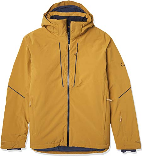 Salomon Herren Ski-Jacke, EDGE JKT M, Polyester/Elasthan/Polyamid, Gelb (Cumin), Größe: L, LC1396900