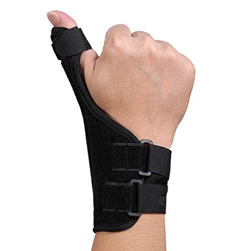 Wchiuoe Daumenbandage Rechts und Links, Universelle Daumenschiene für Daumenschutz mit Abnehmbarer Aluminiumstange und Verstellbaren Gurten für Rhizarthrose,Daumensattelgelenk,Triggerfinger, Arthritis