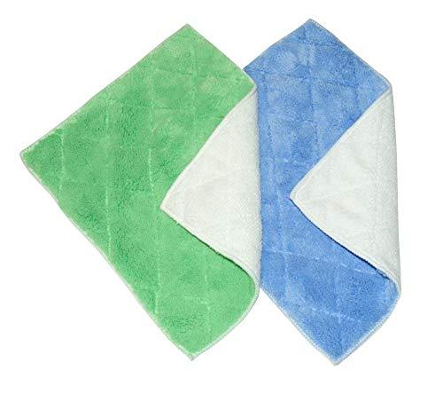 purclean Microf. Spül-Putztuch 2er Set grün/weiß - blau/weiß