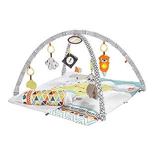 Fisher-Price Gimnasio sensorial llama, manta de juego para bebés recién nacidos (Mattel GKD45),Embalaje estándar