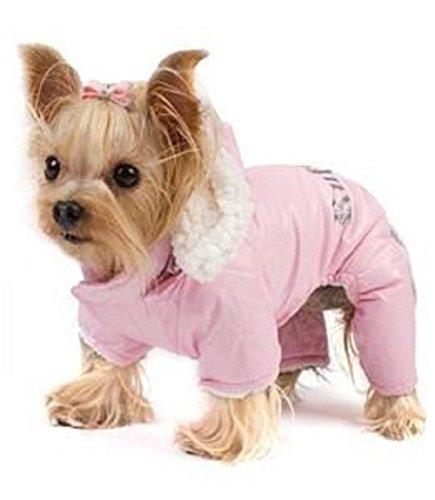 Dog Coat - 'Ruffin' It' Snowsuit - Pink - Small/Medium (S/M)