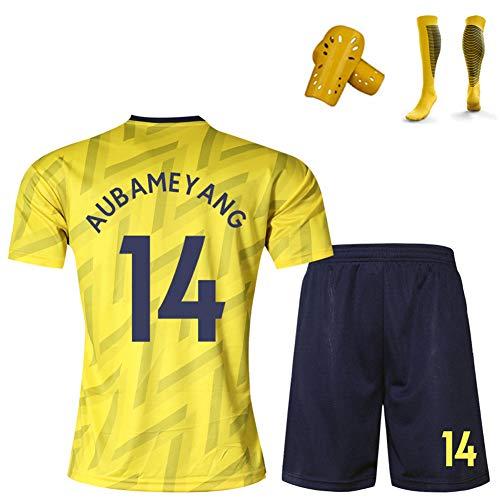 CBVB Fußballuniform, Lacazette Ramsey Aubameyang, Arsenal 2019-2020 Trikot, Heim- und Auswärtsuniformen,Trainingsuniform für Erwachsene/Kinder/Jungen/Mädchen/Jugendliche-yellow14-140