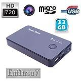 Batterie Externe +32Go caméra Espion HD 720P