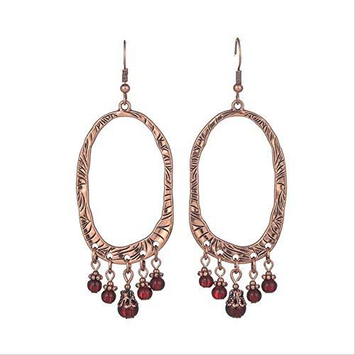 Boucles d'oreilles vacances Vintage luxe Goldn gland boucles d'oreilles pour les femmes à la main Boho résine cristal perles mariée boucle d' oreille femme déclaration E022449