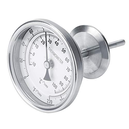 Homebrew Bierthermometer roestvrij staal 1,5 inTC OD 50 mm 0 ~ 220 ° F Temperatuurmeting Homebrew