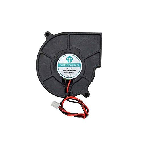 LONGJUAN-C 3D Printer Cooling Fan 5015 50x50x15mm Centrifugal Blower Fan 5V 12V 24V 2-Pin Brushless Cooling Cooler Fan Fan (Color : 5V)