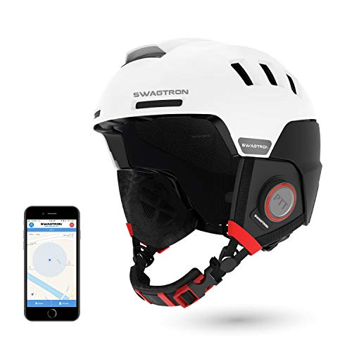 Swagtron RS1 Black Snowtide Bluetooth Ski & Snowboard Helmet with Audio