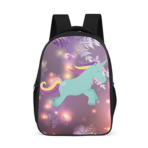 Zhenxinganghu Fashion Einhorn Vorschule Bookbag für Teenager Trendy Computer Schulter Rucksack 16 '' Daypack Grey OneSize