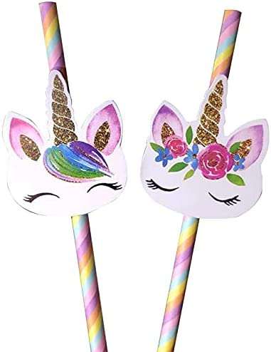 20pcs Cartoon Unicorn Paper Straws for Wedding Party Ta Birthday Max 71% OFF 67% OFF of fixed price