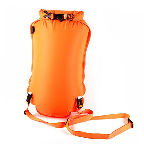 Luckxing 28L35L Swim Buoy Waterproof Dry Bag,Outdoor Swimming Safety Waterproof Bag Swimming Dry Sack for Kayakers, Swim Safety Float for Rafting