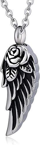 TYBM Novedad Collares Colgantes Colgante Collar Crema Animal Collar Hombre Acero Inoxidable Circonio ala De Ángel Plata
