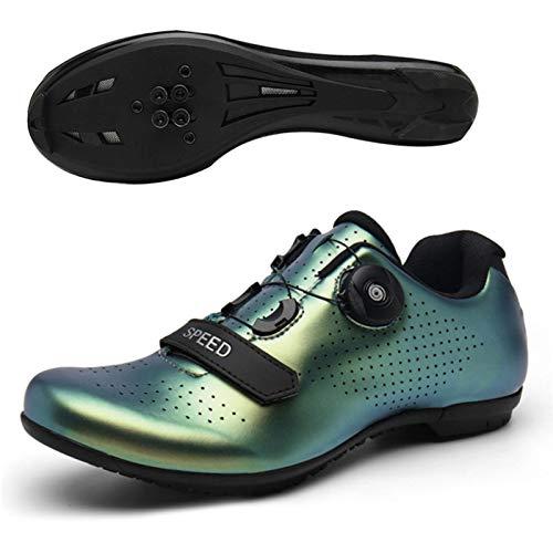 Scarpe da ciclismo su strada, scarpe da ciclismo unisex Bici da strada Scarpe da mountain bike SPD, scarpe da ciclismo sportive traspiranti antiscivolo e resistenti all'abrasione (38-43)