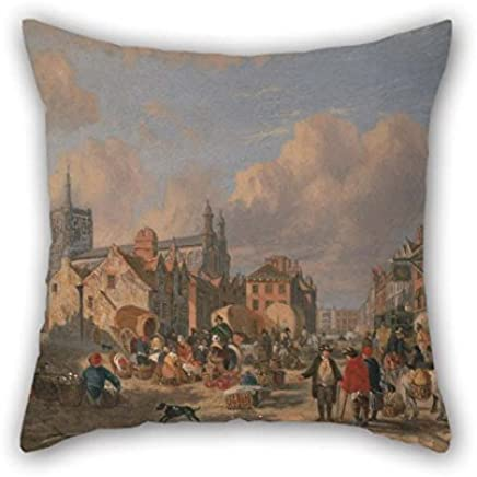 musicday Oil Painting David Hodgson - The Haymarket, Norwich Cushion Cases 16 X 16 Inches / 40 by 40 Cm For Seat Divan Saloon Kids Girls Wedding Birthday with Both Sides