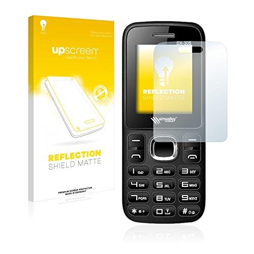 upscreen Entspiegelungs-Schutzfolie kompatibel mit Simvalley Mobile SX-305 – Anti-Reflex Bildschirmschutz-Folie Matt