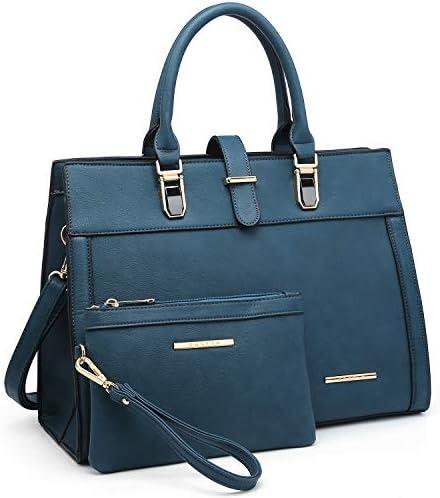 Women s Handbag Flap over Belt Shoulder Bag Top Handle Tote Satchel Purse Work Bag w Matching product image