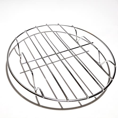 MIEWAA Edelstahl Dampfgarer Grillrost Abkühlgitter Kochstände Kuchenrost 20cmX20cmX2.7cm für Grill Backen Kochen Gedämpfte Kartoffeln