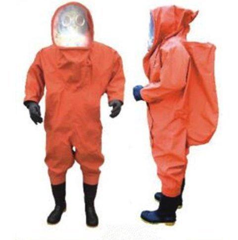 Schutzanzug für Chemikalien, Größe M, 0,45/0,65 mm, Orange