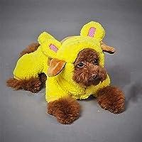 犬厚みの服ペット服のための快適な犬のコスチューム冬の犬服ペット子犬チワワ、ブラウン、XXLのために小型犬のコートジャケット後背位猫のスーツ (色 : 黄色, サイズ : XL)
