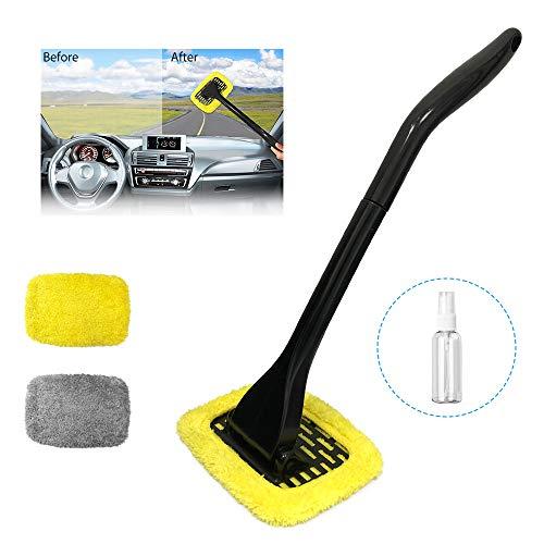 Randalfy Auto-Reinigungswerkzeug-Set für Fahrzeuge, Innen- und Außenscheiben, Fensterreinigung mit Fensterrollo-Reiniger