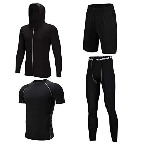 QWCZY trainingsbroek, 4-delig, panty's, gymnastiek-races, compressiefietsspel, in de vorm van leggings, geschikt voor rasptraining