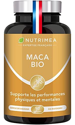 MACA BIO 1500 mg/jour - Extrait de Racine de Maca du Pérou AB - Régulateur Hormonal Naturel & Puissant - Performances Sportives, Vitalité - 90 Gélules Vegan - Nutrimea - Fabriqué en France