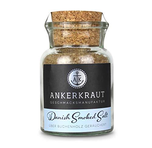 Ankerkraut Danish Smoked Salt, dänisches Rauchsalz, grob, Wikinger Rauchsalz, 160g im Korkenglas