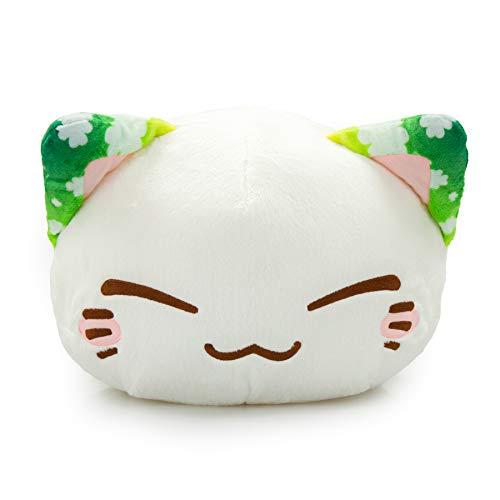 Meralens Funnylens grün Klee Nemu Nemo Neko Kuscheltier Katze - Manga Anime Otaku Kawaii Stofftier - Plüschtier Plush Cat Katze Merchandise zum Kuscheln Original aus Japan Höhe 25cm und Breite 34cm