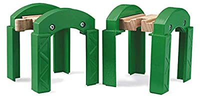 BRIO World - 33253 Stacking Track Supports | 2 Piece Toy Train Accessory for Kids Age 3 and Up