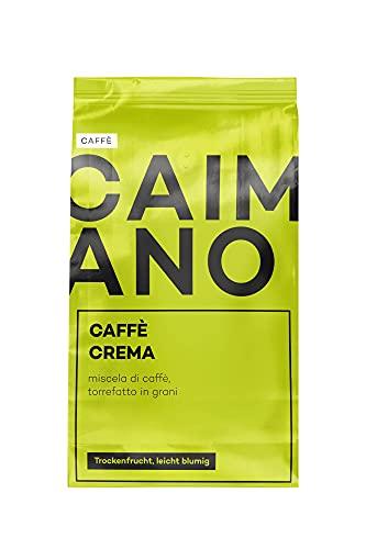 Caimano Caffè Crema, 1kg, ganze Bohne, helle Röstung, fruchtig & floral, säurearm, sahnige Crema, ideal für Kaffee aus Siebträger, Vollautomaten & als Filterkaffee