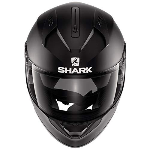 Shark Motorradhelm Hark Ridill Blank, Schwarz, Größe M