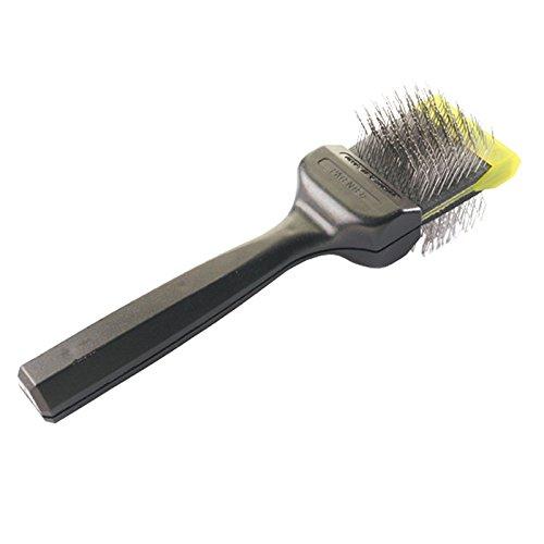 Les Pooch Green Medium Single Brush