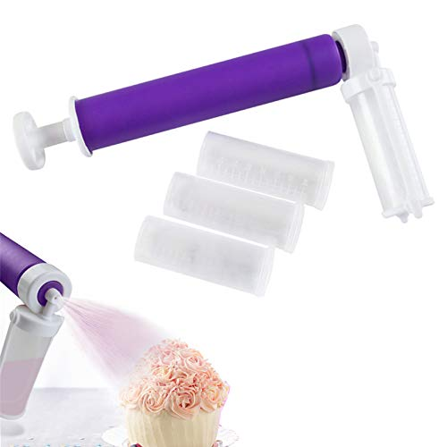 Manual Airbrush for Cakes Decorating Cake Decorating Tools Cupcakes and Desserts Decorating Accessories Birthday Holiday Purple