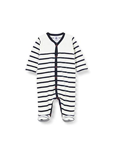 Petit Bateau 5549201 Bebés y niños pequeños durmientes, Marshmallow/Smoking, 0 Meses Unisex bebé