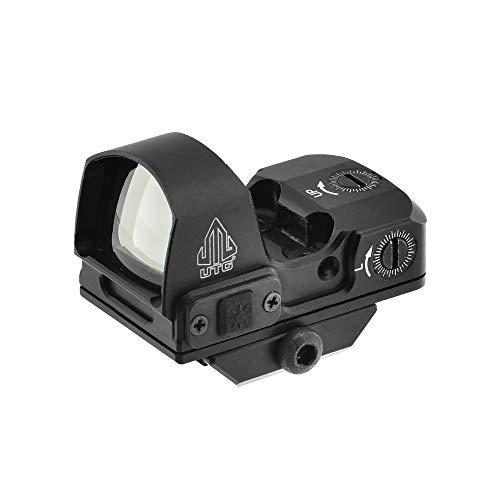 UTG Reflex Micro Dot, Green 4 MOA Single Dot, Adaptive Base, Black
