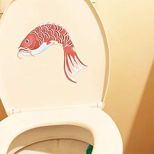 15.6 * 21.5 cm carpa común nadar alrededor del baño pegatina sala de estar decoración de la pared calcomanía animal de la historieta